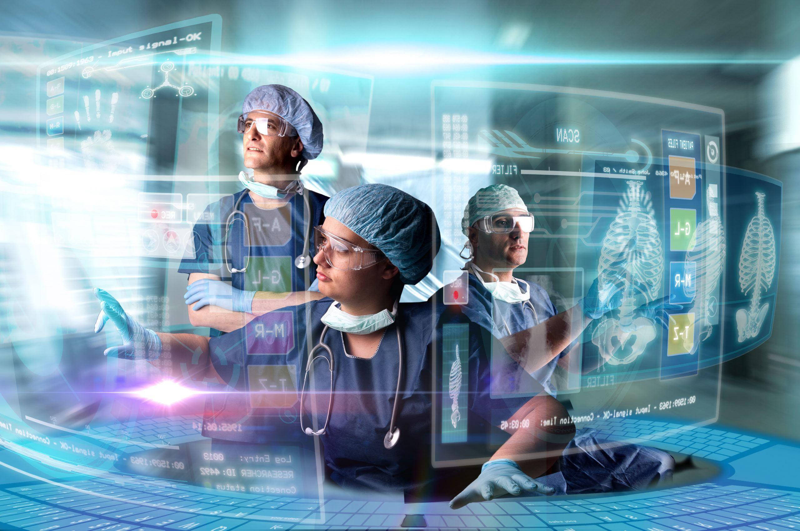 Doctors,In,A,Research,Station,With,Digital,Screens,And,Keyboard